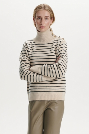 Lyrica Stripe Pullover logo